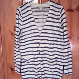 Lucky Brand Striped Cardigan